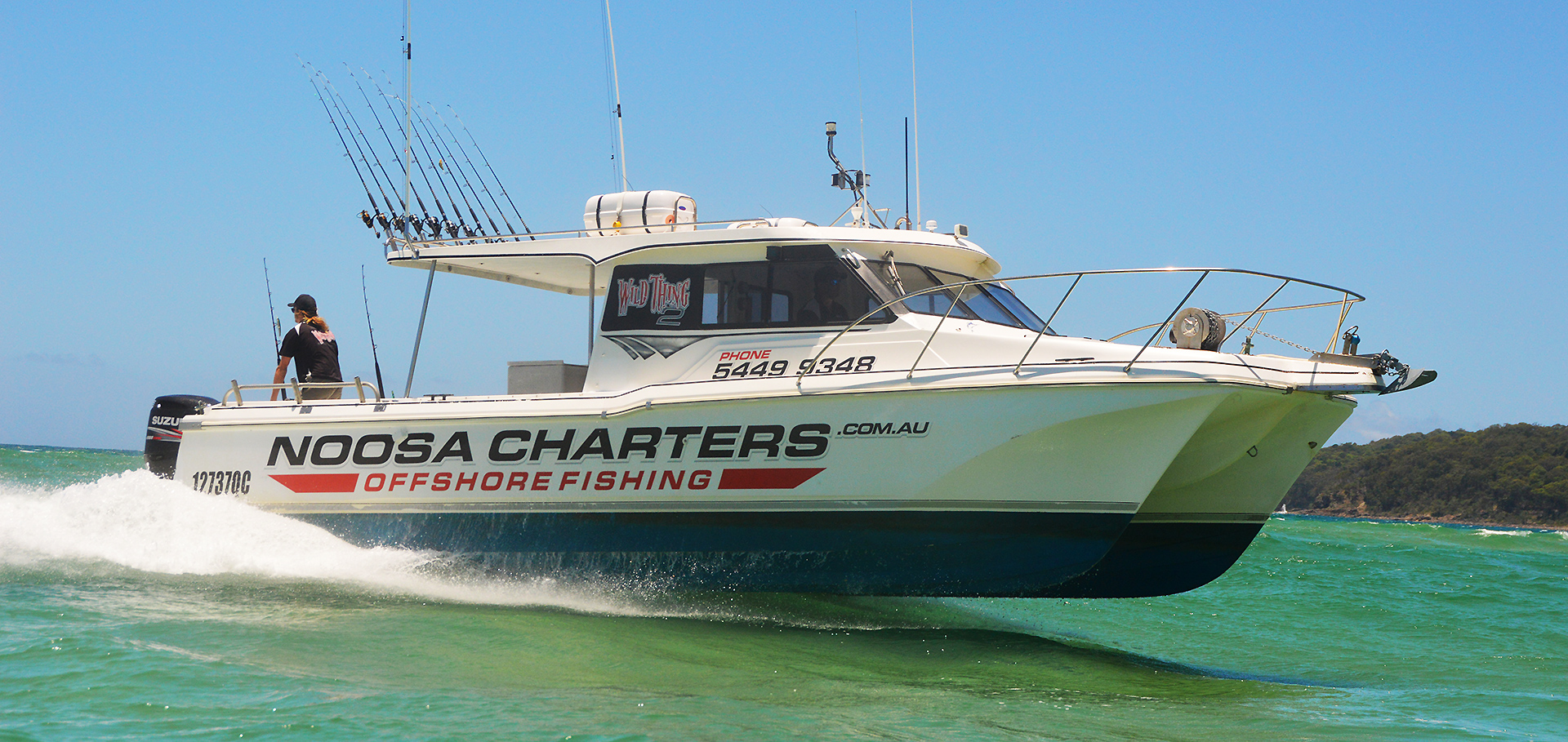 Contact noosa charters offshore fishing in noosa heads for Offshore fishing charters