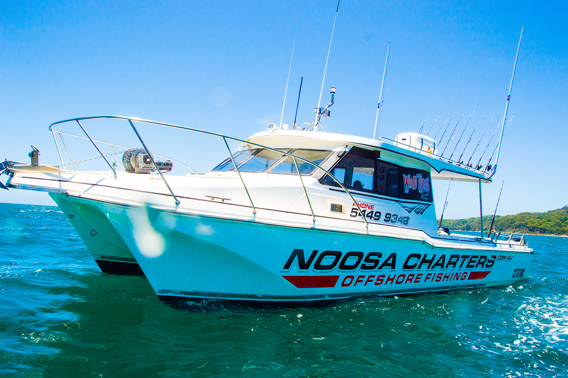 Offshore fishing charters in noosa on wild thing noosa for Off shore fishing boats